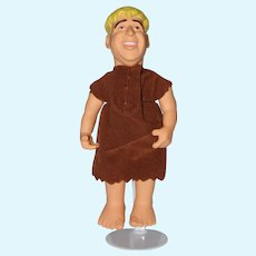 "12"" Vinyl and Cloth The Flintstones , Barney Rubble Doll."