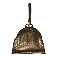Vintage Gold Mesh Whiting & Davis Purse, Made in USA.