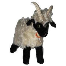 "Steiff Tagged ""Snucki""  Mohair Goat/Mountain Sheep Ram"
