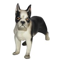 Vintage Boston Terrier Dog Figurine.
