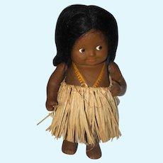 "7"" Rare Black Antique Effanbee ""Baby Bud"" Doll"