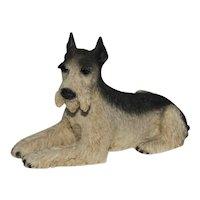 1988 Castagna Original Standard Schnauzer Dog Figurine Made in Italy.