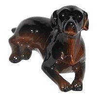 Vintage Porcelain Unknown Dog Breed Figurine.