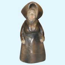 """7"""" Vintage Paper Mache Nun Doll Figurine."""
