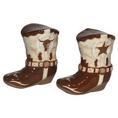 "Contemporary 3 3/4"" Cowboy Boot Salt and Pepper Set."