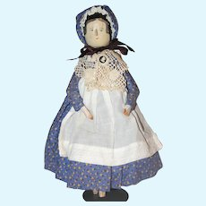 "12"" Jointed Wood Vintage Peg Doll."