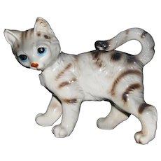 Vintage Porcelain Tiger Stripe Cat