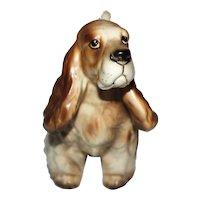 American Cocker Spaniel Dog Porcelain Figurine.
