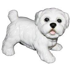 Maltese Puppy Figurine.