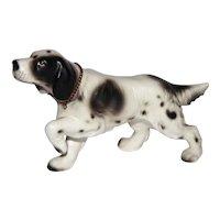 Vintage Lefton Setter Hunter Pointer Dog Figurine