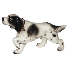 Vintage Lefton Setter Hunter Pointer Dog Figurine