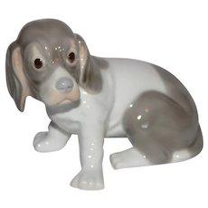 Vintage Seated Dog Figurine.
