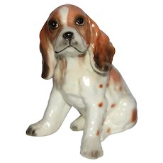 Vintage Tagged Lefton Cocker Springer Spaniel Dog Figurine.
