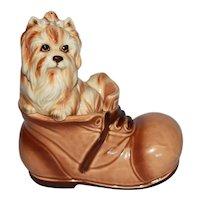 """Vintage Yorkshire Terrier """"Yorkie"""" Puppy Dog Figurine"""
