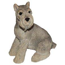 Schnauzer dog Stone Critters figurine