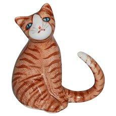 Striped Orange Tabby Cat Figurine.