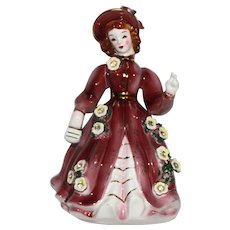 Vintage Marked Geo Z. Lefton 1956, #10337 Southern Belle Figurine.
