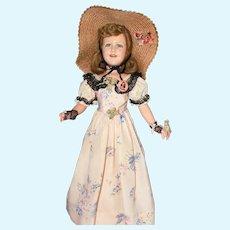 "25"" Vintage Compo A/O Ideal Deanna Durbin Doll, marked on back of head Ideal 25"