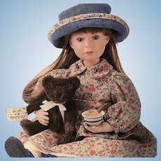 """Boyds Yesterday's Child Porcelain Doll #4832 """"Cinnamon with Spice - Recipe For Friendship"""""""