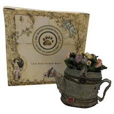 """Boyds 2000 """"Kendra's Watering Can w/Sprinkle McNibble"""" Treasure Box [392109]"""