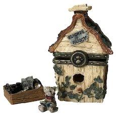 Boyds Treasure Box CHESTER'S BIRDHOUSE with Audubon McNibble