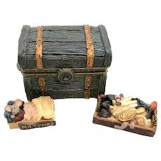 Boyds ZAZU'S ATTIC TRUNK with Snoozy McNibble Treasure Box  392102