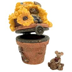 Boyds Potter B. Bloombeary with Nibbles SUNFLOWER Treasure Box Mothers Day  392101