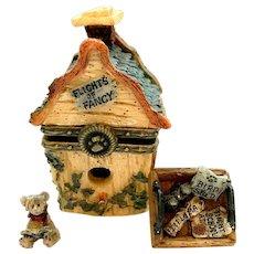 Boyds CHESTER'S BIRDHOUSE with Audubon McNibble Treasure Box  392107