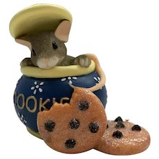 """Fitz and Floyd Charming Tails 1999 """"Hi Cookie"""" [86/760] Figurine"""