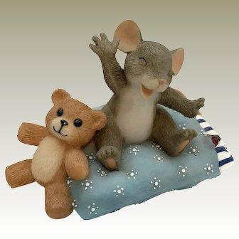 "Fitz and Floyd Charming Tails 2000 ""Sleepy-Head"" [89/113] Figurine"