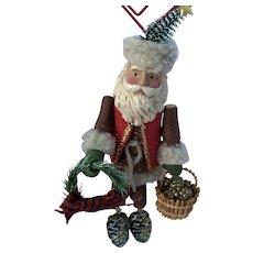 """Hallmark Keepsake Ornament 2007 """"WOODLAND SANTA"""""""