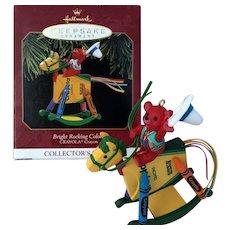 """Hallmark Collector's CRAYOLA Series 1997 """"BRIGHT ROCKING COLORS"""" Crayola Ornament"""