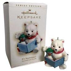 "Hallmark Keepsake Series Edition 2006 ""It's Snowtime!"", #6 Snowball and Tuxedo ornament"