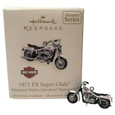 "2007 Hallmark ""1971 FX Super Glide"" HARLEY Miniature Ornament"