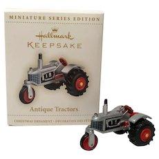 "2006 Hallmark ""Antique Tractor"" Miniature Ornament"