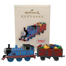 "2006 Hallmark ""Cheery Cargo"" Thomas Keepsake Ornament Set"