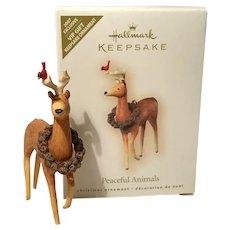 """2007 Hallmark """"Peaceful Animals"""" VIP Exclusive Keepsake Ornament"""