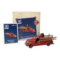 "2005 Hallmark ""1938 Chevrolet Fire Engine"" MAGIC Keepsake Ornament"