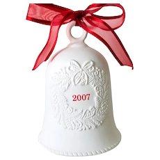 Hallmark 2007 White Porcelain Bell Christmas Tree Ornament Decoration