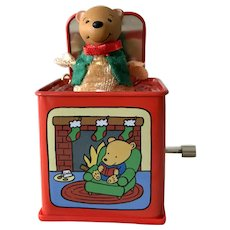 2006 Pop Goes the Teddy Bear Jack in Box MAGIC Hallmark Ornament