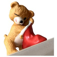 1987 Hallmark CINNAMON BEAR Fine Porcelain Ornament - 5th in Series