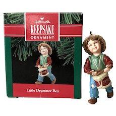 1990 Hallmark LITTLE DRUMMER BOY Keepsake Ornament