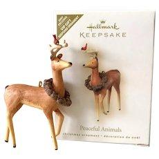 2007 Hallmark PEACEFUL ANIMALS Keepsake Ornament VIP Exclusive