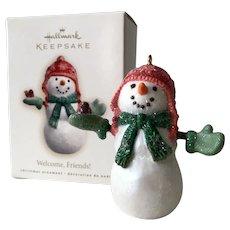 2007 Hallmark WELCOME FRIENDS Snowman Keepsake Ornament