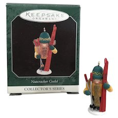 1998 Hallmark Miniature SKIER Ornament - Nutcracker Guild Series