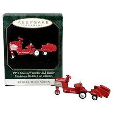 1999 Hallmark '1955 MURRAY Tractor and Trailer' Miniature Ornament