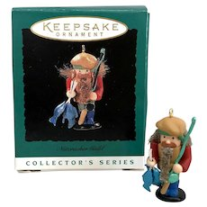 1996 Hallmark FISHERMAN Nutcracker Guild Miniature Ornament