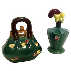 1950's Vintage Carpet Bag and Umbrella Salt and Pepper Shakers Made in Japan