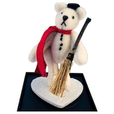 "World of Miniature Bears, LE ""Snowman"" #614 by Artist Nancy Petitto"