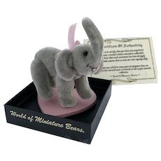 "World of Miniature Bears, LE ""Ellie"" #673, the elephant, by Artist Sue Chaffee"